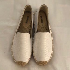 Soludos White Leather Espadrilles Size 8